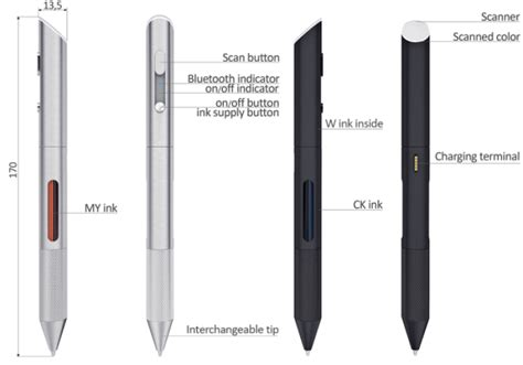 scan color pen hi tech pen can draw in 16 million colors scanned