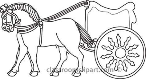 greek chariot coloring pages