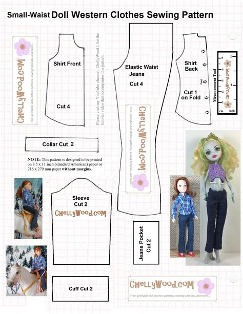 clothes pattern sewing diy elastic waist pants for dolls w free pattern
