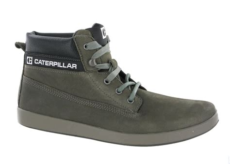 new mens caterpillar poe snare leather hi top ankle