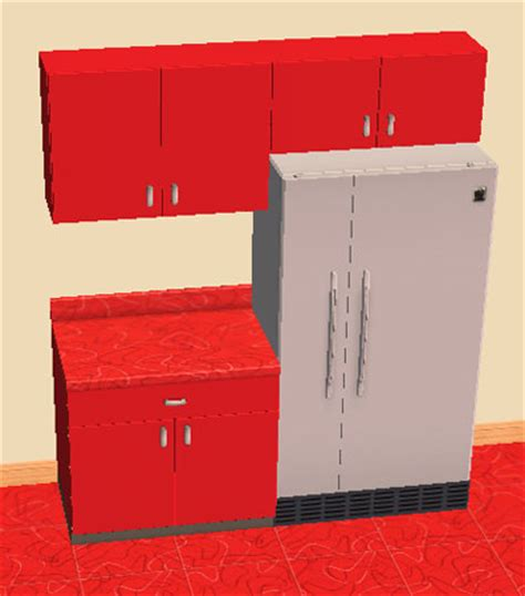 cherry red kitchen cabinets mod the sims retro kitchen cabinets cherry red recolor
