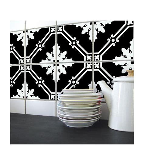 cuisine 駲uip馥 noir et blanc stickers pour carrelage de cuisine ou salle e bain en noir