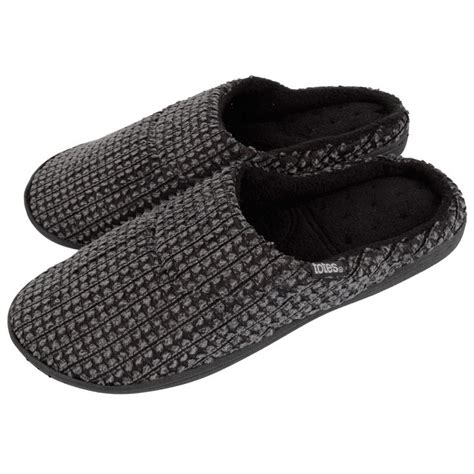 mens isotoner slippers totes isotoner pillowstep s mule slippers with fleece