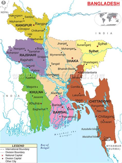 map of bangladesh bangladesh government
