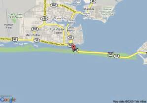 map of radisson resort ft walton fort walton