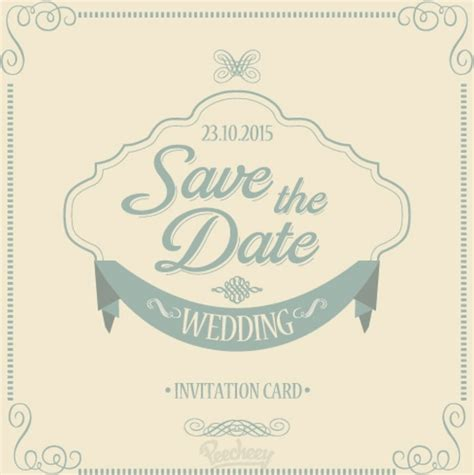 wedding invitation save the date template save the date wedding invitation free vector in adobe