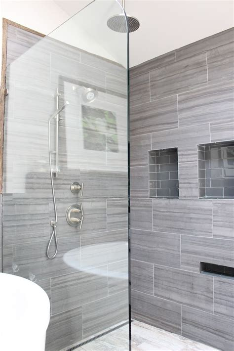 grey shower tile ideas  pictures