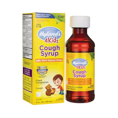 cough syrup with 100 honey 4 4 fl oz 118 ml