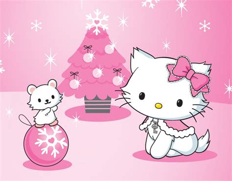hello kitty holiday wallpaper hello kitty merry christmas wallpaper wallpapersafari
