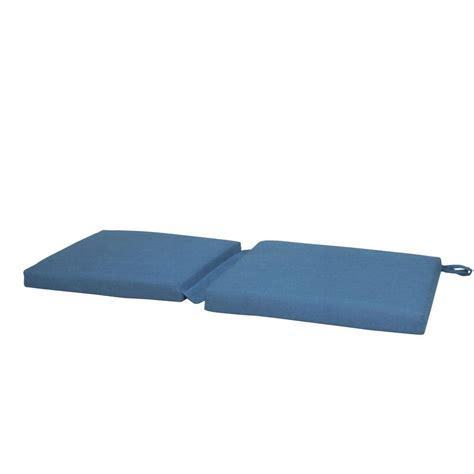 sunbrella outdoor bench cushions paradise cushions sunbrella denim outdoor hinged bench cushion hd4618 48086 the home