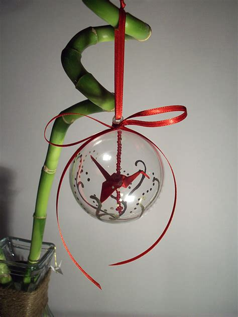 origami crane ornament by sarinilli on deviantart