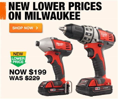 milwaukee m18 drill impact driver combo kit price drop