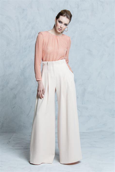 alta colors pantalones palazzo de cintura alta de color combinado