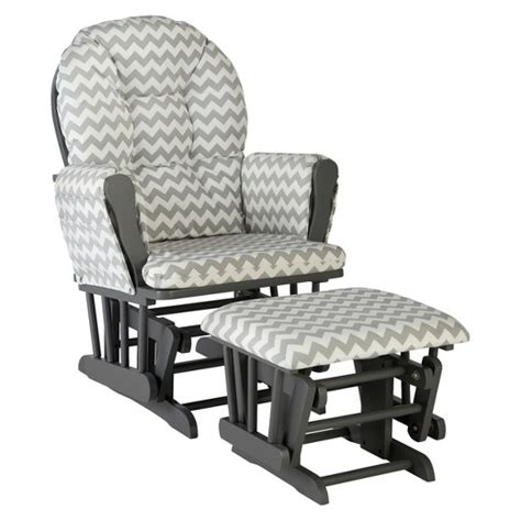 gray glider and ottoman storkcraft hoop gray frame glider and ottoman target
