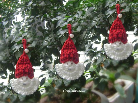 crochet christmas crafts crafts ideas crochet santa claus craft ideas