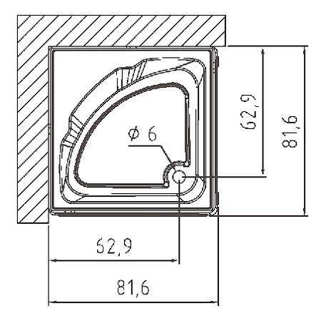 cabina doccia senza idromassaggio samo poliplanet cabina doccia quadrata versione base