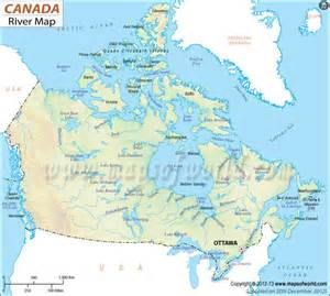 canada river map maps