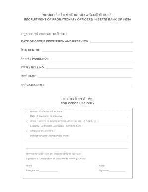 bio data format for banking fill printable