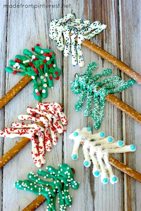pretzel christmas trees made from pinterest