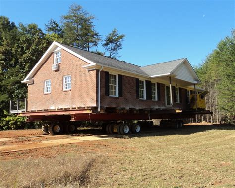 house moving brick house move oak ridge nc blake moving rigging
