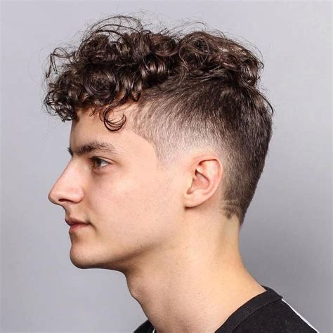 Curly In Back Featered On The Sides | best 25 short sides long top ideas on pinterest long