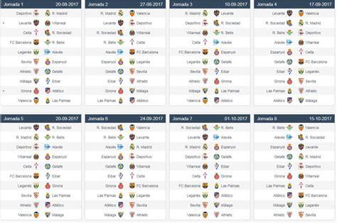 Calendario Liga Mx 2018 Liga Espa 241 Ola Este Es El Calendario Completo De La