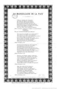171 la marseillaise de la paix 187 chanson interpr 233 t 233 e 224 l