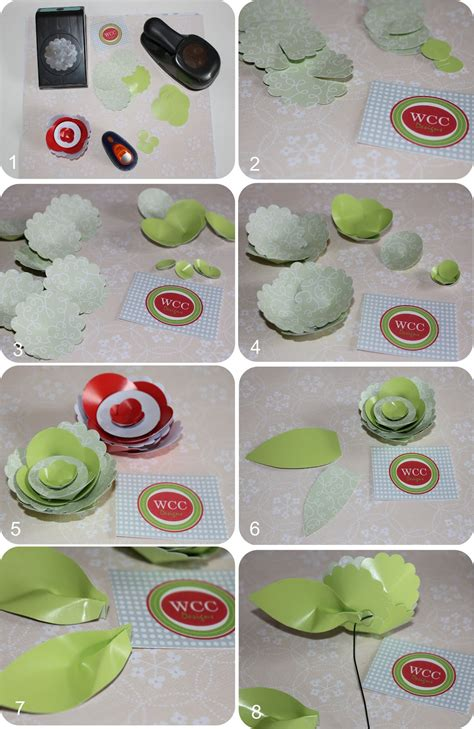 Steps In Paper Flower - diy how to make a beautiful paper flower centerpiece