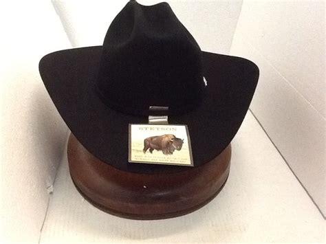 Corral Great Bargains American For Sale Stetson 4x Buffalo Fur Corral Cowboy Western Black Hat Free Brush No Tax Sell Ebay