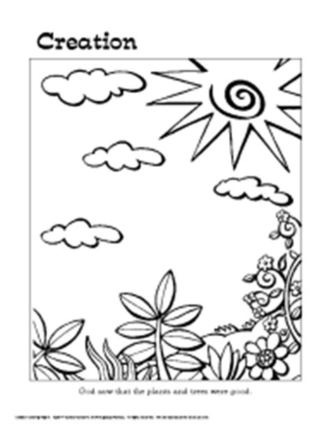 creation coloring pages pdf creation story colouring pages