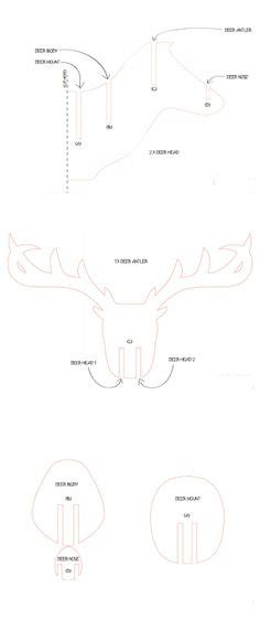cardboard trophy template 3d cardboard duct deer trophy with template