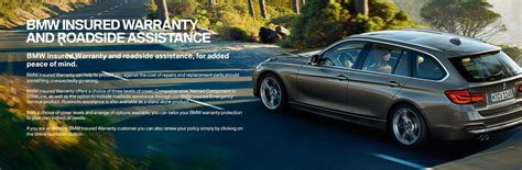 bmw insured warranty and roadside assistance for added