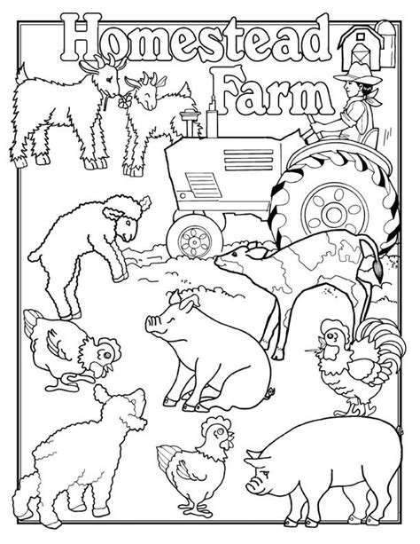barnyard coloring pages coloring home
