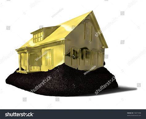 house made of gold house made gold stock illustration 10871998