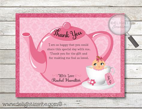 Gift Card Thank You Baby Shower - pink girl baby shower thank you cards