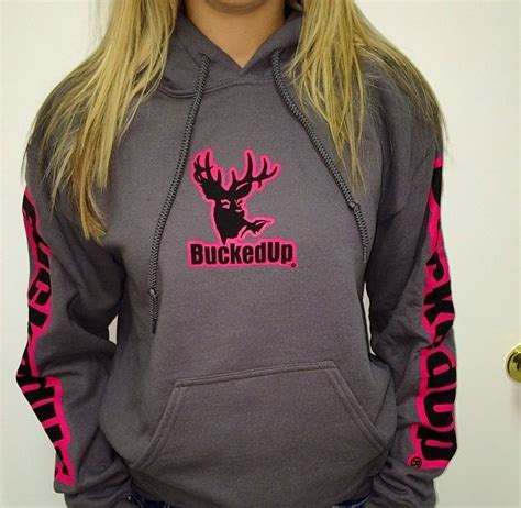Hoodie Sweater Vespa Front Logo charcoal bucked up jacket with pink writing bucked up