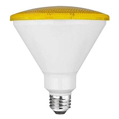 Bug Light Bulbs Led Tcp 90 Watt Equivalent Led Par38 Yellow Flood Light Bulb Bug Light Non Dimmable 1 Pack
