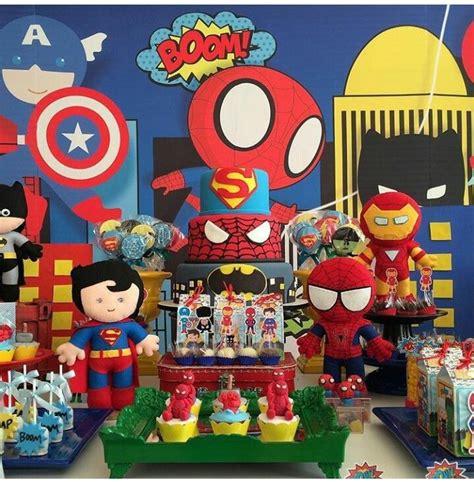 decorar globos superheroes superheroes fiesta superheroes