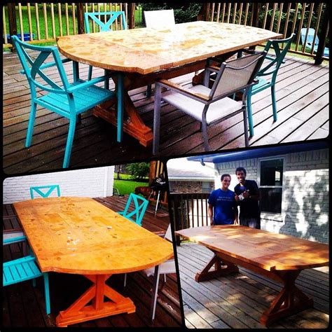 white patio table with built in cooler diy projects