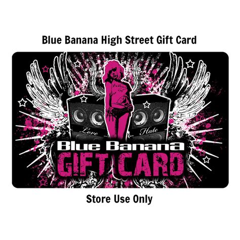 High Street Gift Card - 75 pound high street store gift card blue banana gift card
