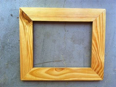 Handmade Wooden Frames - 8x10 wooden frame handmade from pine wood