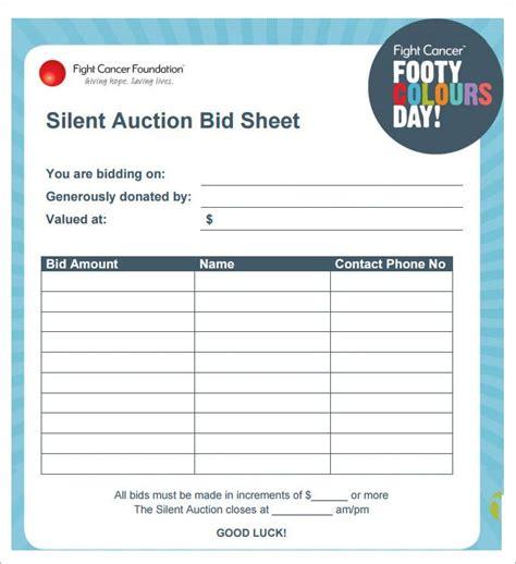 silent auction bid sheet blank 2 marvelous quintessence vizarron com