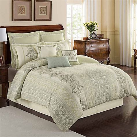 sage comforter sets buy williamsburg davenport queen comforter set in sage