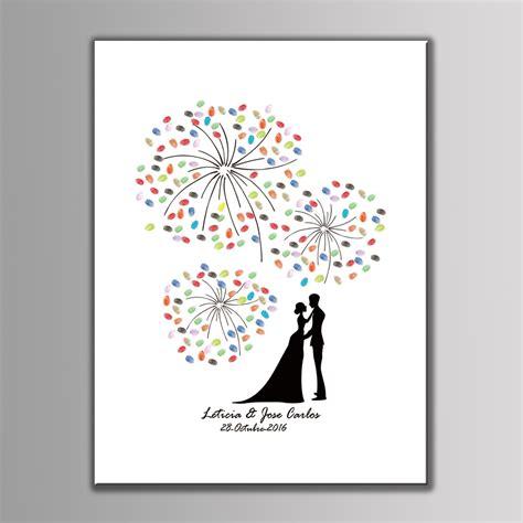 Hochzeit Leinwand by Sale Fingerprint Canvas Painting Fireworks Wedding