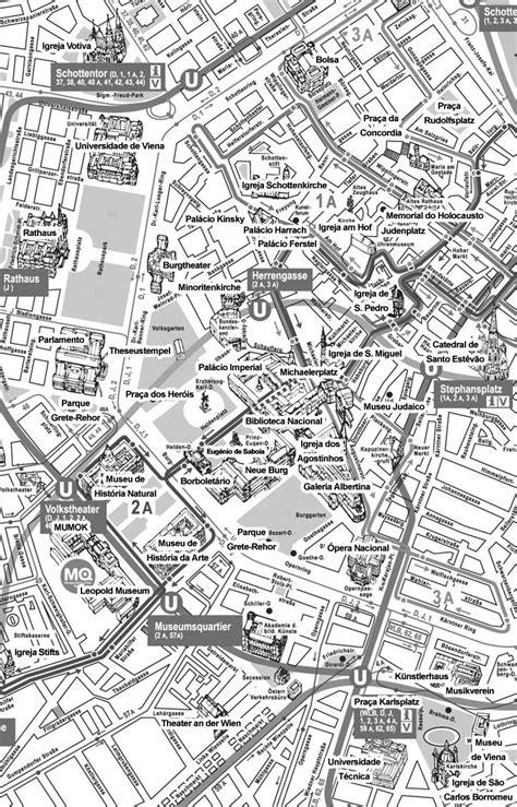 Mapa De Viena Com Pontos Turisticos
