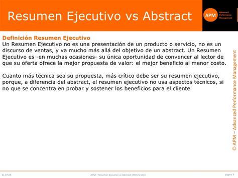 executive summary vs abstract v010 cli