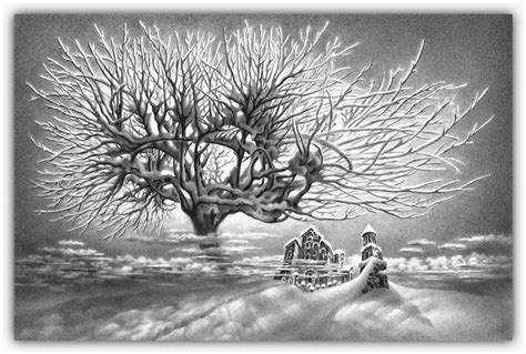 imagenes a lapiz de navidad dibujos hechos lapiz nieve navidad 29