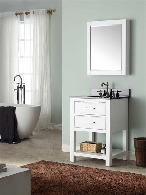 "25"" Begonia Single Bath Vanity   White   Bathgems.com"