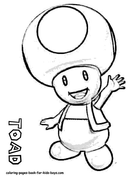 toad mario drawing free large images