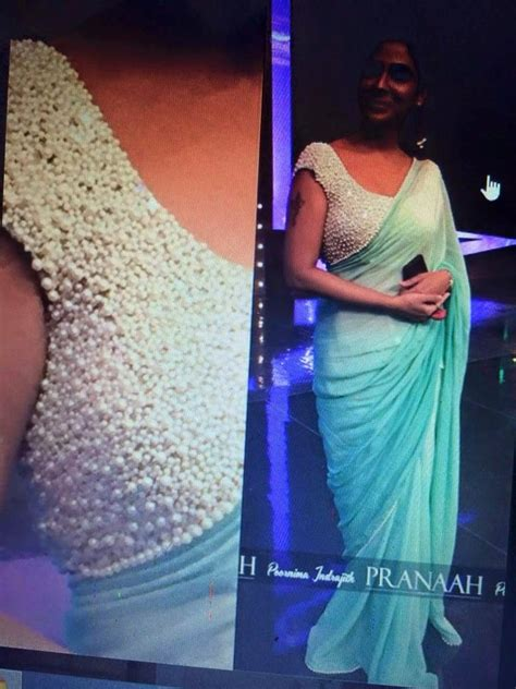 Blouse Pearl by Bridal Pearl Work Blouse With Designer Saree Buy